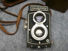 Vintage Rolleicord DRP DRGM Camera w/ Franke & Heidecke Lens & Leather Case