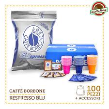 100 Cialde Capsule Caffè Borbone Respresso Miscela Blu e compatibile Nespresso A