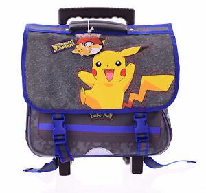 Pokemon Zaino-Trolley Musette Bag Zaino per Bambini Pikachu Scuola Rotoli Zaino
