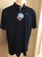 NWT Columbia Men's Polo Mesh Shirt S/S Short Sleeve Utilizer AM0126 UPF30