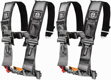 "Pro Armor 4 Point 3"" Seat Belts Harness Silver Polaris RZR XP Turbo 1000 900 800"