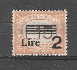 S37571 San Marino MNH 1938 Postage Stamps L.2 Su L.15 1v Saxon 53