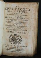 LO SPETTACOLO DELLA NATURA. Vincenzo Manfredi. Cervone, Napoli, 1767.