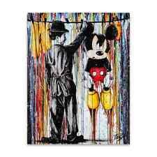 """Oeuvre Pop Art sur toile imprimée """"Charlie Chaplin étend Mickey"""" 60x80"""