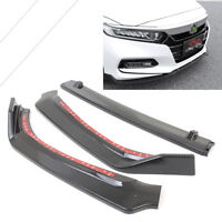 Carbon Fiber ABS Front Hood Lip Grille Cover Moulding Trim For Honda Accord 2018