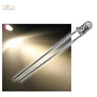 """10 LEDs 3mm warmweissTyp """"WTN-3-11000ww"""", weiße LED wasserklar + Zubehör, warmw"""