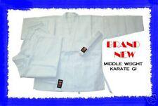 WHITE 8 Oz. Karate Uniform Gi Size 2 Martial Arts NEW!