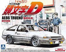 Initial D 1/32 001 Takumi Fujiwara Ae86 Sprinter Trueno Aoshima Model Kit New