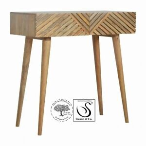 Line Carving Console Table
