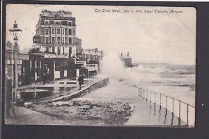 Kent - Margate Tidal Wave Jan 7 1905 Royal Crescent  Postcard Saxon ser W.R.