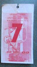 New listing 1969 Watkins Glen F1 race ticket pass USGP Jochen Rindt Formula 1