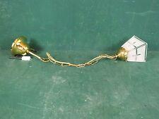 Lampe Hängelampe Messing mit 50 cm Kette, Glasschirm und großer Kuppel