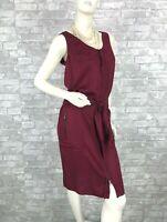 Yves Saint Laurent Red Cotton Silk Dress Zipper 4 US 40 IT 36 FR S Runway Auth