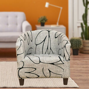 Tub Chair Covers Printed Furniture Protector for Bar Counter Living Room