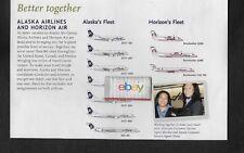 ALASKA AIRLINES & HORIZON AIR 2007 FLEET CHART MD-80 Q200 CRJ-700 737-400 -700