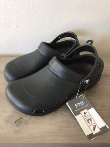 Crocs Work Clog Specialist Enclosed Black 10073-001 Size Mens 6 Womens 8