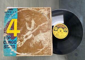 "Various ""4 Top Congo Stars - African Dance Vol 2"" Afro Rumba Compilation LP"
