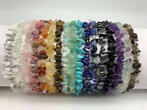 Genuine Crystal Bracelet - Amethyst, Citrine, Quartz, Sodalite, Lapis, Hematite