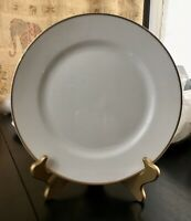 """The Chaumont Noritake M 1920's Dinner Plate Fine China 10"""" Gold White (2)"""