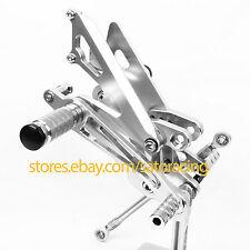 For Honda NC30 RVF400 NC35 CNC Rear Sets Foot Pegs Footpegs Pedal Adjustable
