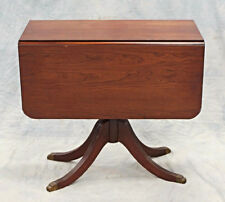 Duncan Phyfe Mahogany Drop Leaf Table Dining Console End Sofa Server Bar Vintage