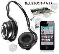 Wireless Bluetooth Stereo Kopfhörer Headset für iPhone 6 5S Samsung HTC LG Handy
