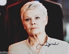 Judi Dench Hand Signed 8x10 Photo James Bond M 007 Skyfall, Best Exotic Marigold