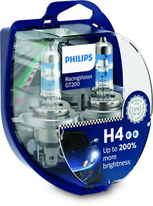 Philips H4 12342RGT RacingVision GT200 Halogen Scheinwerferlampen Duo-Box