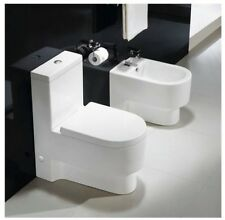 One Piece Toilet - Modern Bathroom Toilet - Dual Flush Toilet - Abaddia - 26.4""