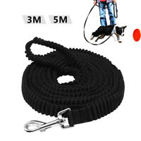 10ft/16ft Black Nylon Dog Bungee Leash Strong Training Leads Recall Obedience