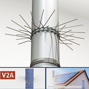 4 x Marder-Schutz Edelstahl  Feder-Verschluss bis Ø 100mm anpassbar Fallrohr