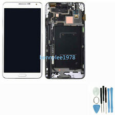 LCD DISPLAY COMPLETO TOUCH SCREEN Ricambio PER SAMSUNG GALAXY NOTE3 N9005 bianco