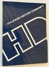 1988 Hyundai Stellar and Pony Italian Original Car Media Brochure Press kit