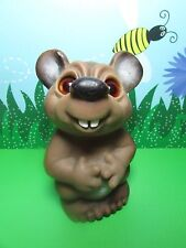 """1984 Dam Euro Mouse Bank Without Stopper - 6"""" Dam NorfinTroll Doll - Very Rare"""