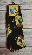 New Spongebob Squarepants Men's Pair Of Novelty Crew Socks 6.5-12