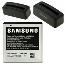 Batterie Pile Samsung EB575152VU + Station de Charge pour B7350 Omnia