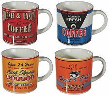 """Vasos de café Taza 4 unidades tazas """"vintage Coffee"""" Cafe café capuchino nuevo"""