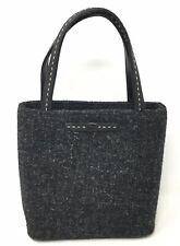 Kate Spade NY Box Purse Gray Wool Tweed Small Satchel Handbag Tote EUC