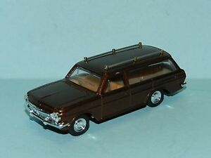 MODIFIED TRAX EH HOLDEN STATION WAGON REPAINTED IN BRONZE as HEARSE with coffin