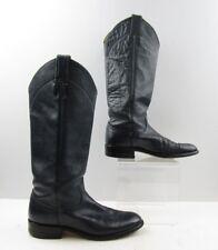 Ladies Justin Navy Leather Buckaroo Roper Cowboy Western Boots Size: 6 B