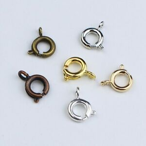 30pcs/lot Spring Ring Clasp Open Ring Jewelry Clasp Necklace Bracelet Connectors