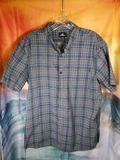 New listing Mens Large O'Neill Surf Shirt Casual Plaid Blue Green