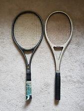 Arthur Ashe Squash Racket & Dunlop Black Max 2 Tennis Racket