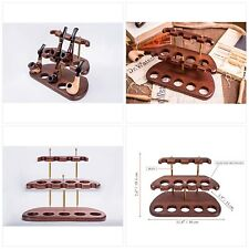 More details for dr. watson - wooden tobacco pipe stand - arch ix - for 9 tobacco smoking pipes,