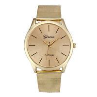 Damen mode Classic Gold Quartz Edelstahl Armbanduhr Damen Armbanduhren