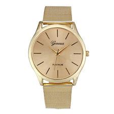 Damen mode Classic Gold Geneva Quartz Edelstahl Armbanduhr Damen Armbanduhren