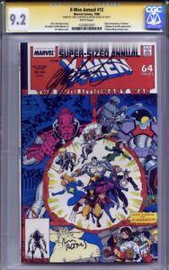 X-MEN ANNUAL #12 CGC 9.2 SS CHRIS CLAREMONT & ART ADAMS (High Evolutionary)