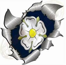 XXL Single Metal Rip Torn Open Yorkshire Rose Sticker JDM  Car Van Truck Boat VW