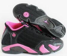 NIKE GIRLS AIR JORDAN 14 RETRO BLACK-PINK (GS) SZ 7Y-WOMENS SZ 8.5 [467798-012]