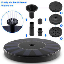 Water Pump Floating Solar Powered Garden Fountain Pond For Bird Bath Tank Kit